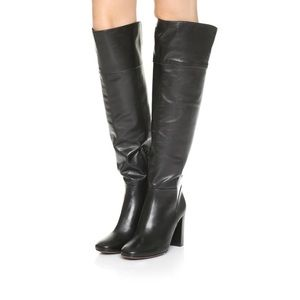 Tory Burch New Bowie Over the Knee Leather Boots